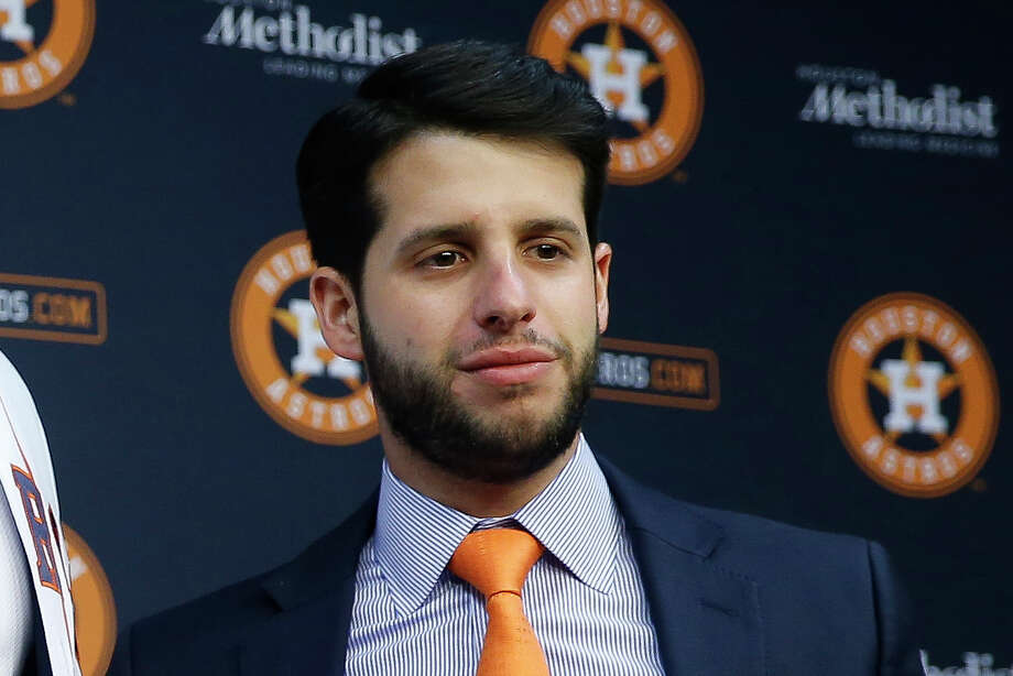 The Astros disputed a Sports Illustrated report that said assistant general manager Brandon Taubman yelled in the direction of three female reporters in the clubhouse following Saturday's ALCS clincher. Photo: Michael Ciaglo/Houston Chronicle / Michael Ciaglo
