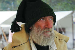 Reenactor Randy Gustafson, of Bunker Hill, at the Grafton Rendezvous, represents an authentic look of a participant in a Rendezvous of 1840.