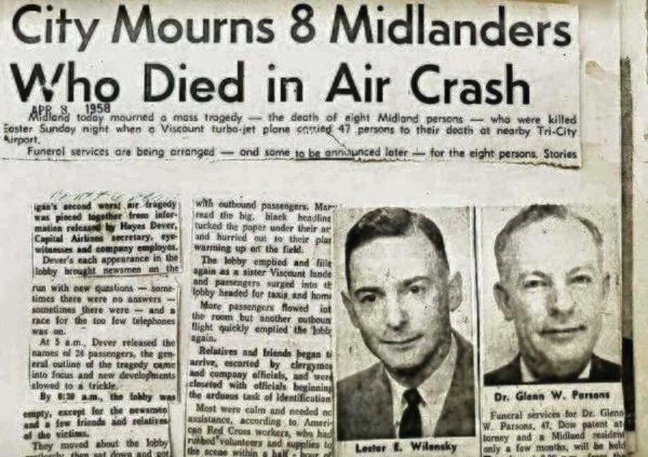 Wednesday, Oct. 23: The Crash of Flight 67 with Floyd Andrick is set for Creative 360, 1517 Bayliss St., Midland. (Daily News file photo)