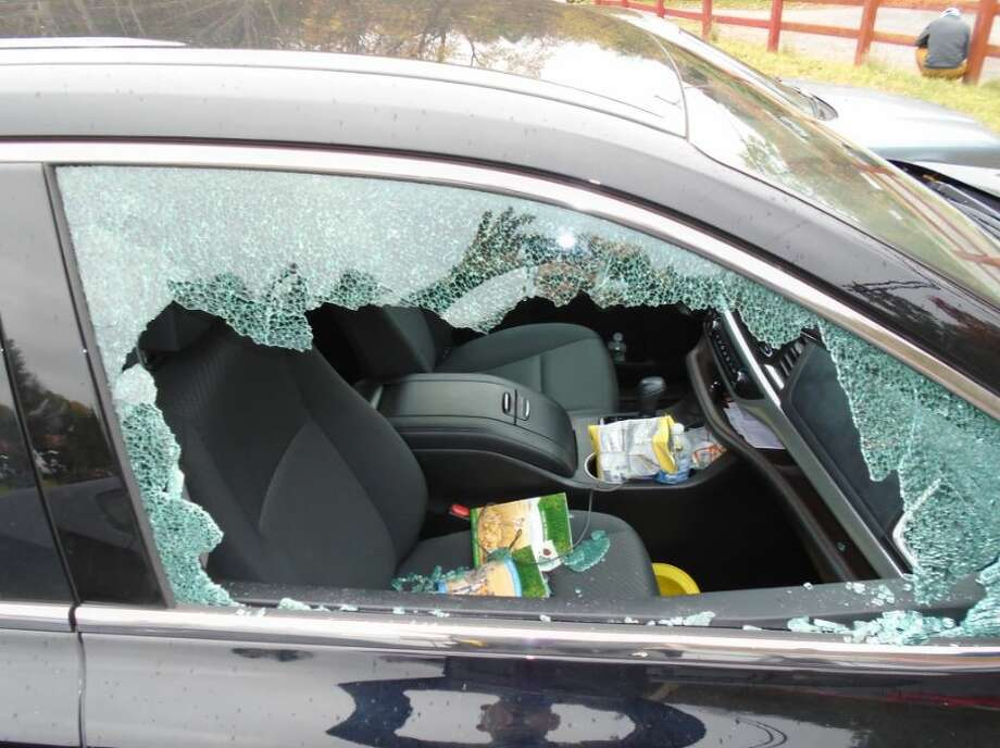 State Police hope the public can help them find whomever smashed car windows parks in the lot to the popular Vroman's Nose hiking area off of Route 30 in Middleburgh. The windows on several cars were broken and valuables were stolen during a spree that troopers said took place between 12:01 p.m. and 12:17 p.m. on Sunday. Troopers say five vehicles were targeted. Photo: New York State Police