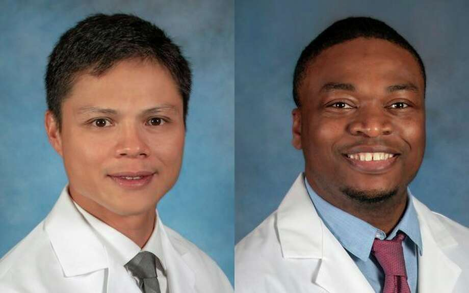 Midland program speakers, Electrophysiologist William Michael Mellana Jr., M.D., and Cardiologist Femi Showole, D.O. (Photo provided/Mid Michigan Health)