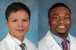 Midland program speakers, Electrophysiologist William Michael Mellana Jr., M.D., and Cardiologist Femi Showole, D.O. (Photo provided/Mid Michigan Health)