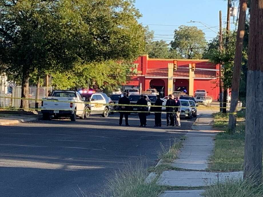 Police responded to the 1600 block of northwest 19th Street on the West Side just before 8 a.m. Tuesday for a man shot after trying to pick up his stepson from a residence.  Photo: Taylor Pettaway
