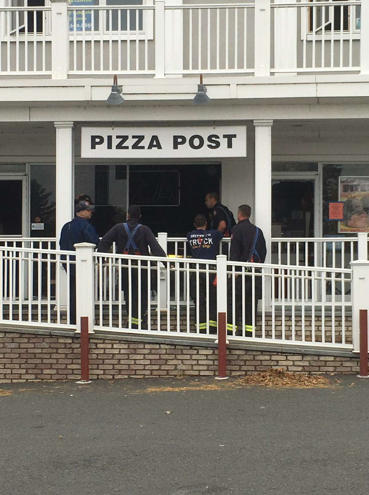 The building at 522 E. Putnam Ave. is home to the popular Pizza Post.