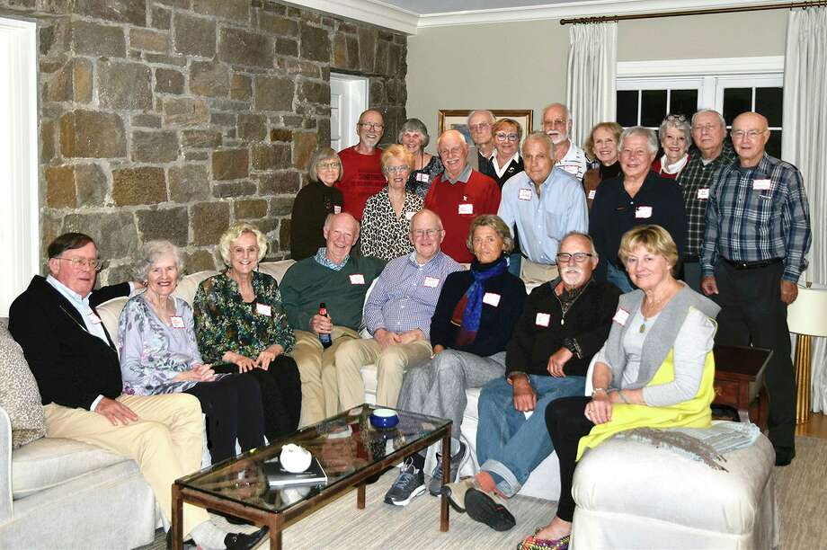 NCHS alumni Ken Hannan, Jane King, Elaine Douglas, Chip Silloway, Peter Dixon, Nancy Schrauth, Dave Cort and Mary Winslow (front row); Linda Work, Holly Newcomb, Skip Raymond, Dave Talmage and Dave Elders (middle row); Jack Lebel, Marsha Keith, Dave Emmerich, Lillian Krause, Art Russo, Meg Mclean, Helshi Lockwood, Joe Rucci and Steve Gravereaux (back row). Contributed photo Photo: Contributed Photo