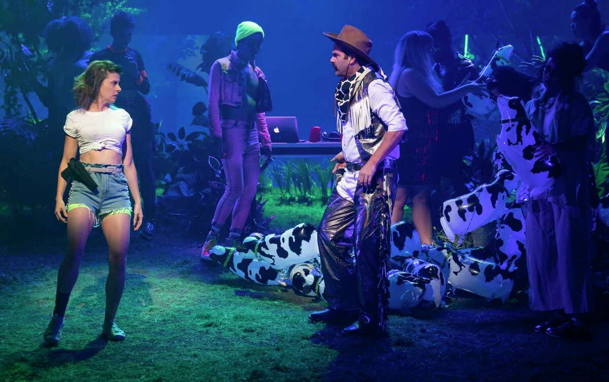 """Yale Repertory Theatre's production of """"Girls"""" runs through Oct. 26."""
