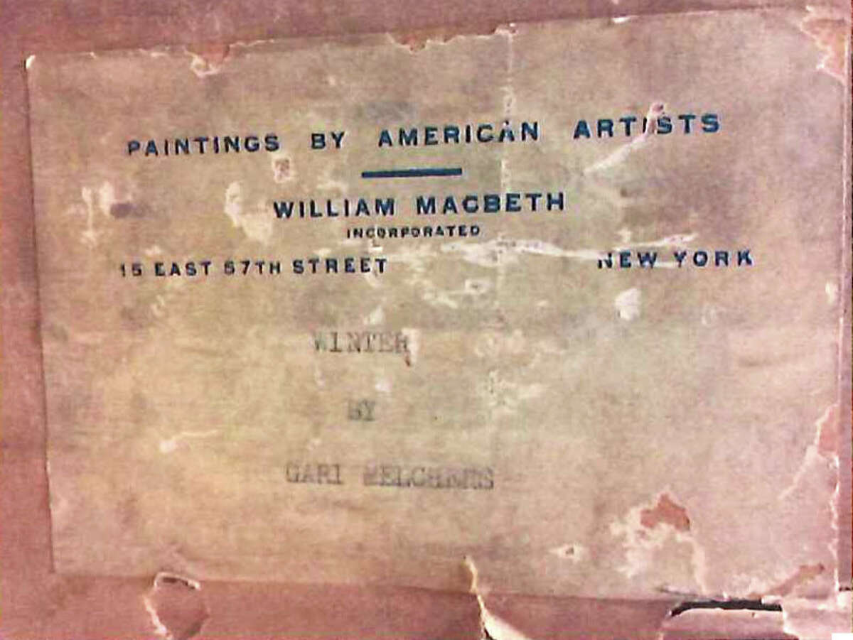 Description placed on the back of a painting,