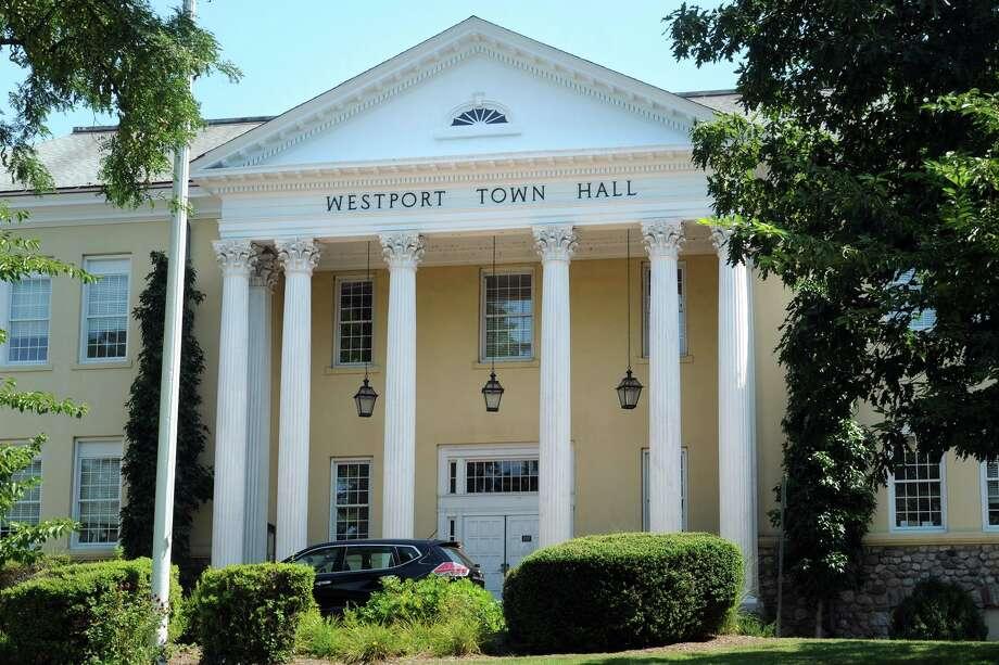 Westport Town Hall, in Westport, Conn. Aug. 24, 2016. Photo: Ned Gerard / Hearst Connecticut Media / Connecticut Post