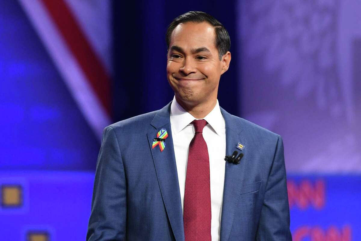 Democratic presidential hopeful former Secretary of Housing and Urban Development Julian Castro said on Monday that he will end his campaign if he can't raise $800,000 before the end of the month. (Robyn Beck/AFP/Getty Images/TNS)