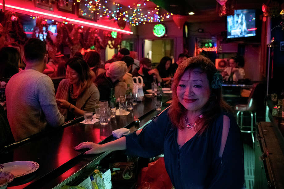 Mama Candy serves up cheap beer and Chinese Whiskey in one of Chinatown's smaller Karaoke bars, Bow Bow Cocktail Lounge. 1155 Grant Ave. Photo: Alex Nicholson / SFGate