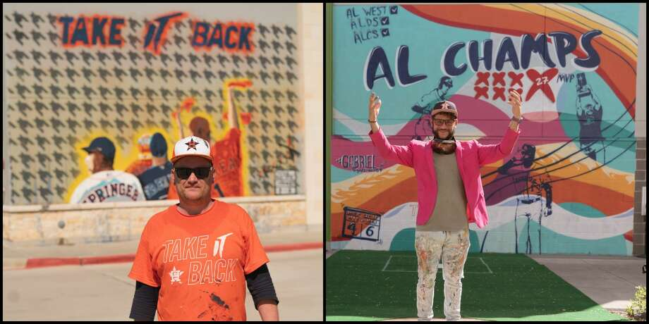 PHOTOS: Astros murals around HoustonIn honor of seven playoff wins, seven brand new Astros-themed masterpieces have popped up around town. >>>See all of the new Astros murals and where to find them here... Photo: Houston Astros//Jon Garner/@artboy76 On Instagram/Gabriel Prusmack/@gapsmack87 On Instagram