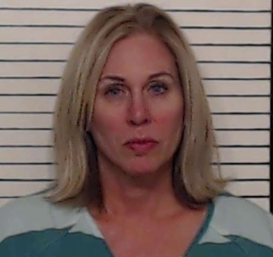 Dena Welch, 50, was charged with driving while intoxicated after police said she crashed into two New Braunfels Police vehicles on Tuesday morning. Photo: New Braunfels Police