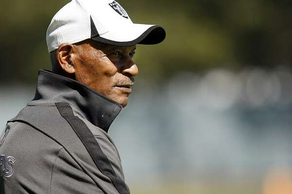 Oakland Raiders Hall of Famer Willie Brown watches the team practice from the sideline at the Raiders training facility in Alameda, California Wednesday October 2, 2013.