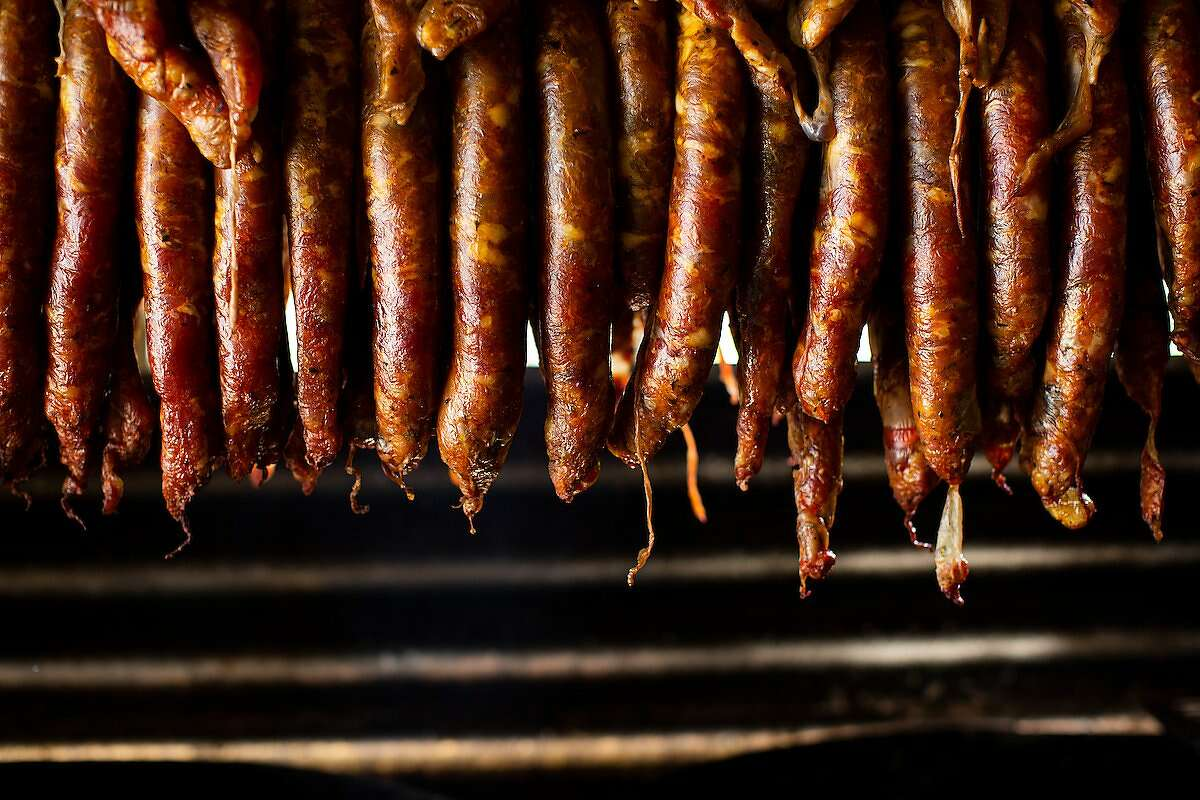 Photos of sausages at Nando's