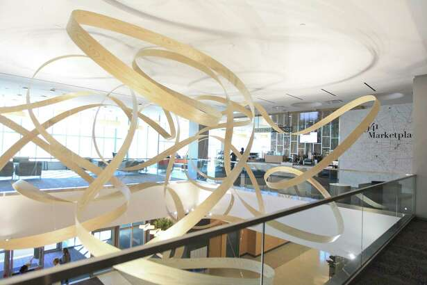 The second floor lobby at MD Anderson Cancer Center's new outpatient clinic, Tuesday, Oct. 22, 2019, in The Woodlands. The new, 210,000 square-foot facility has the capacity for approximately 500 patients and provides several services, such as medical and surgical oncology, chemotherapy, physical therapy and wellness resources.