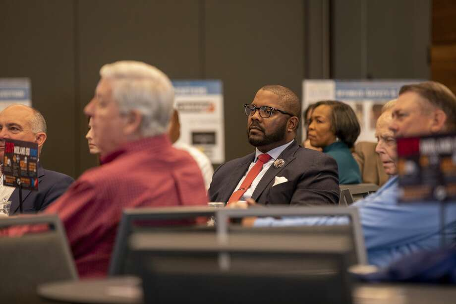 Superintendent Orlando Riddick attends the MISD bond rally for early voting Tuesday, Oct. 22, 2019 at the Bush Convention Center. Photo: Jacy Lewis/Reporter-Telegram