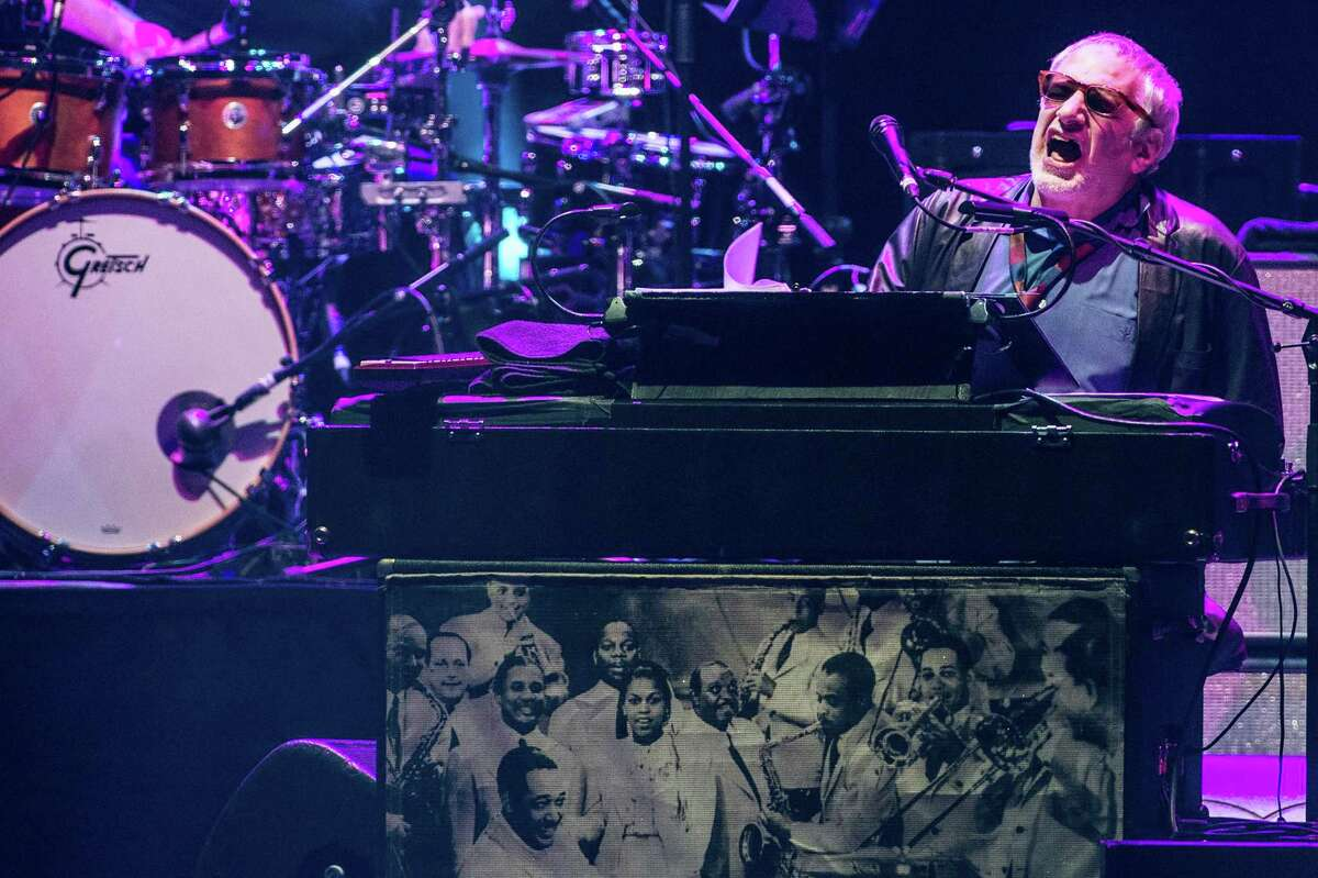 Donald Fagen of Steely Dan performs during Blues Fest 2017 in London.