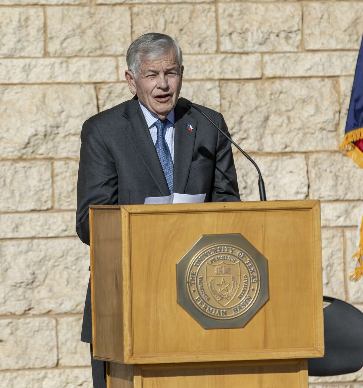 FILE PHOTO: State Rep. Tom Craddick speaks at the grand opening for the Engineering Building on Tuesday, Oct. 22, 2019 at the UTPB Midland campus.