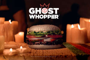 Burger King selected San Antonio to be the sole Texas city where the new Ghost Whopper to appear for the Halloween season.