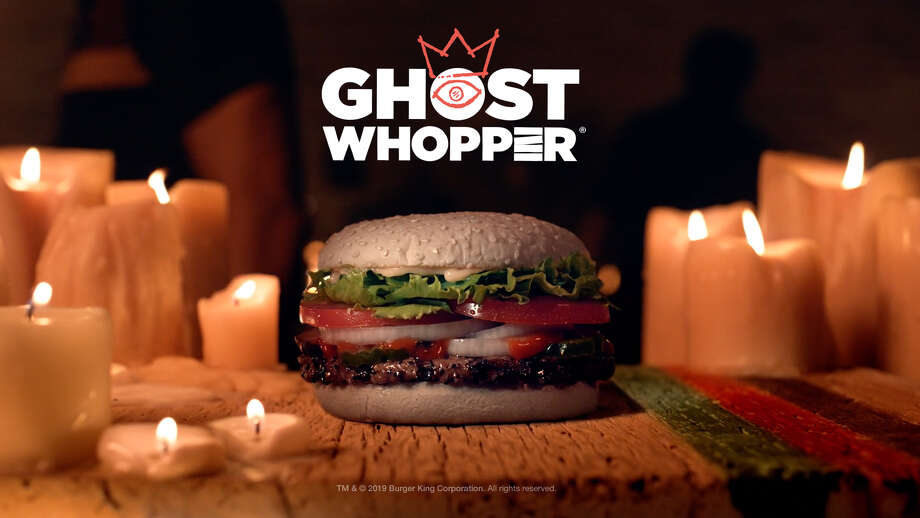 Burger King selected San Antonio to be the sole Texas city where the new Ghost Whopper to appear for the Halloween season.  Photo: Courtesy, Burger King