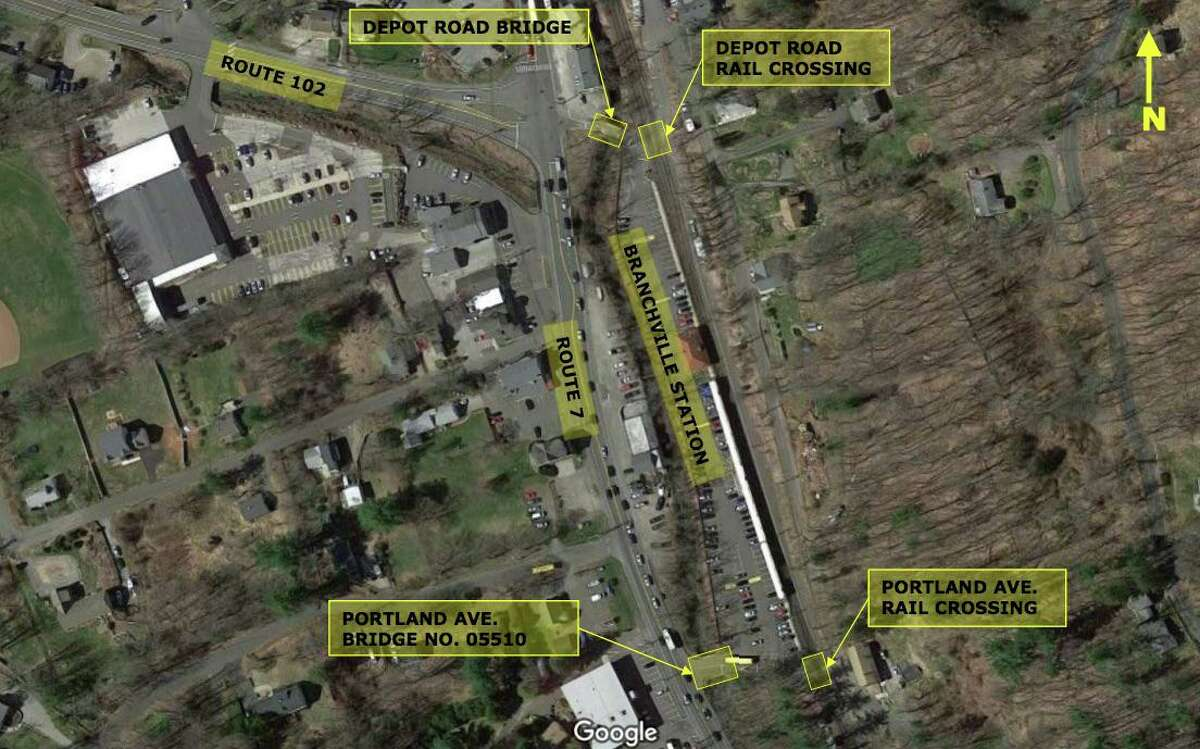 The closing and reopening of the Depot Road bridge was discussed at a town meeting on Oct. 16. The state has plans to close the bridge at Portland Avenue, the more southern of the two bridges that give access to the Branchville Train Station, but wants to keep on bridge open.
