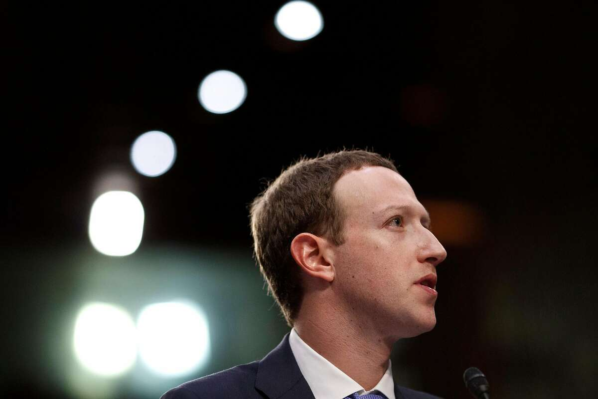 FILE -- Mark Zuckerberg, chief executive of Facebook, testifies before the Senate on Capitol Hill in Washington, April 10, 2018. In 2018, Zuckerberg told Congress about his plan to share user data with researchers so that they could study and flag disinformation on the site � nearly 18 months later, the data remains unavailable to academics as the company struggles to share information while protecting users' privacy. (Tom Brenner/ The New York Times)