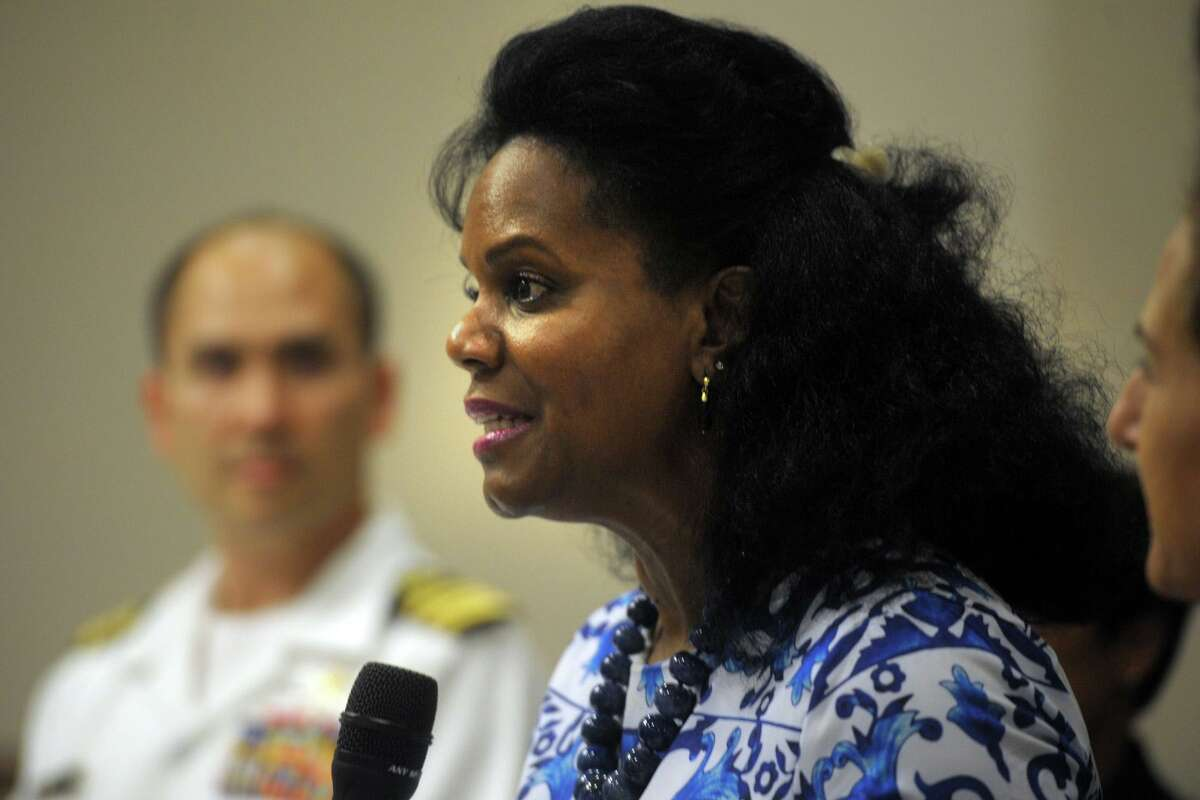 Renee Coleman-Mitchell, Commissioner of the Connecticut Department of Public Health speaks during a press conference at the Morton Government Center, in Bridgeport, Aug. 5, 2019. The press conference was held to announce that Fairfield Count has been selected to participate in the 2019 National Health and Nutrition Examination Survey.