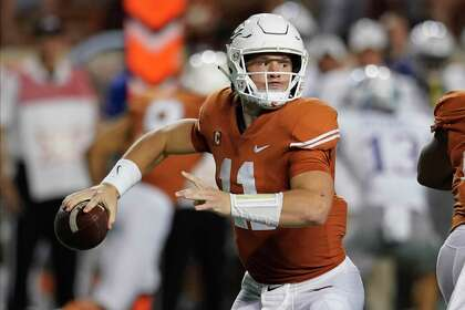 Image result for Sam Ehlinger Photos Against Kansas