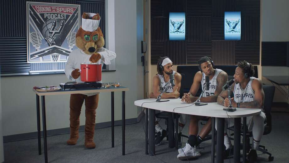 "Wednesday marks the start of the 2019-2020 Spurs season and the 15th year of H-E-B commercials starring current and retired players.The two commercials airing with the season opener are ""Cooking with the Spurs Podcast"" and ""Seafood Pirates."" Photo: Courtesy, H-E-B"