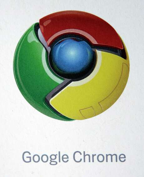 The logo for the Google Chrome Web browser is shown during a news conference at Google Inc. headquarters in Mountain View, Calif., Tuesday, Sept. 2, 2008. Google Inc. is releasing the Web browser in a long-anticipated move aimed at countering the dominance of Microsoft Corp.'s Internet Explorer and ensuring easy access to its market-leading search engine. (AP Photo/Paul Sakuma)