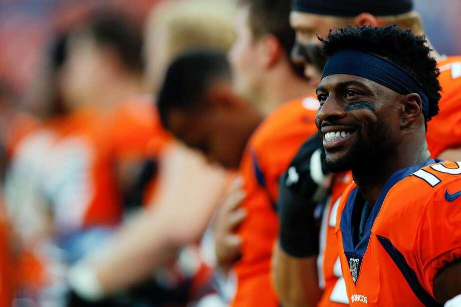 New 49er Emmanuel Sanders wanted out of Denver, and a few Broncos are glad he left. Photo: Justin Edmonds / Getty Images