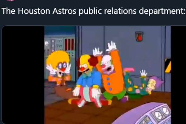 Twitter reacts to Astros exec's apology for yelling at female reporters during post-ALCS victory celebration.