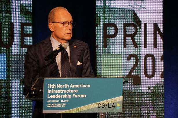 Larry Kudlow, White House chief economic adviser, spoke at the North American Infrastructure Leadership Forum at the Ritz Carlton Hotel in Washington, D.C. on Tuesday October 22, 2019.