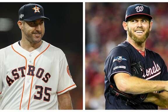 World Series Game 2 starters: Astros' Justin Verlander and Nationals' Stephen Strasburg.