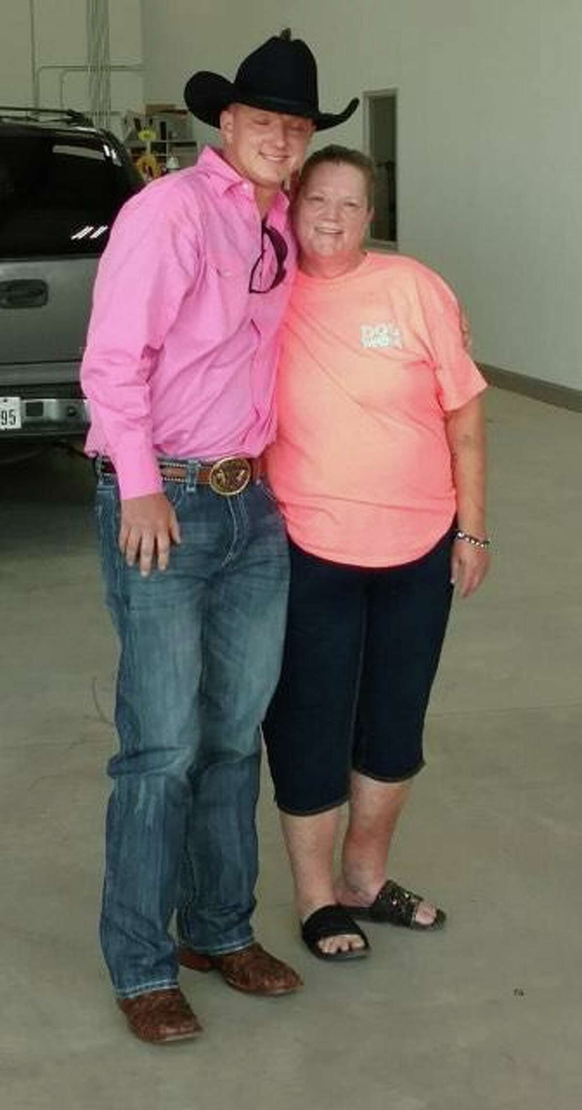 Devin Custer, 27, with his mother, Tracie Custer.