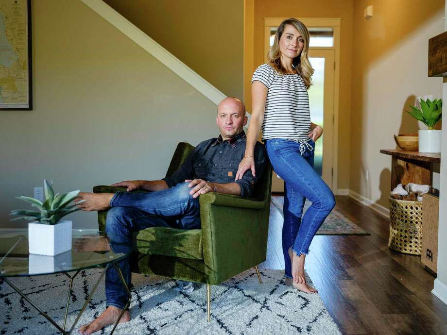 -- PHOTO MOVED IN ADVANCE AND NOT FOR USE - ONLINE OR IN PRINT - BEFORE SEPT. 2, 2018. -- Scott and Taylor Rieckens, who left Southern California in search of more financial freedom, at home in Bend, Ore., Aug. 27, 2018. Millennials especially have embraced the so-called FIRE movement — the acronym stands for financial independence, retire early — seeing it as a way out of soul-sucking, time-stealing work and an economy fueled by consumerism. (Leah Nash/The New York Times) Photo: LEAH NASH, STR / NYT / NYTNS