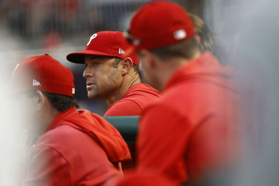 Former Philadelphia Phillies manager Gabe Kapler reportedly is getting a second interview for the Giants manager opening. Photo: Patrick Semansky, AP