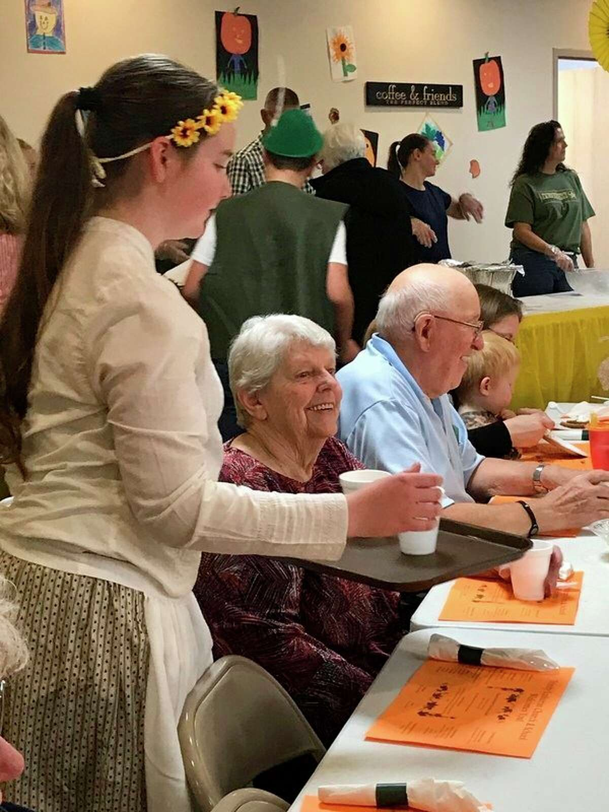 Trinity Lutheran Church and School students in gradesfifth througheighth served diners at the annual Harvest Fest dinner on Saturday, Oct. 19. The dinner raised $2,000 for the school's Parent Teacher League. The moneywill be used for school-related activities throughout the year. (Submitted photo)