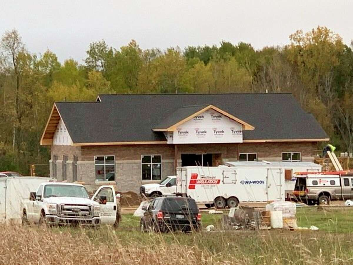 New location for West Michigan Credit Union under construction. (Herald Review photo/Cathie Crew)