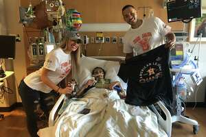 "Astros star shortstop Carlos Correa and his fiancee Daniella Rodriguez visited Laredoan Jalen Garcia on Tuesday at the MD Anderson Cancer Center in Houston prior to the team's World Series opening game that night against the Nationals. The pair wore ""Team Jalen"" shirts as they continue to help the United High School student in his battle with metastatic osteosarcoma."