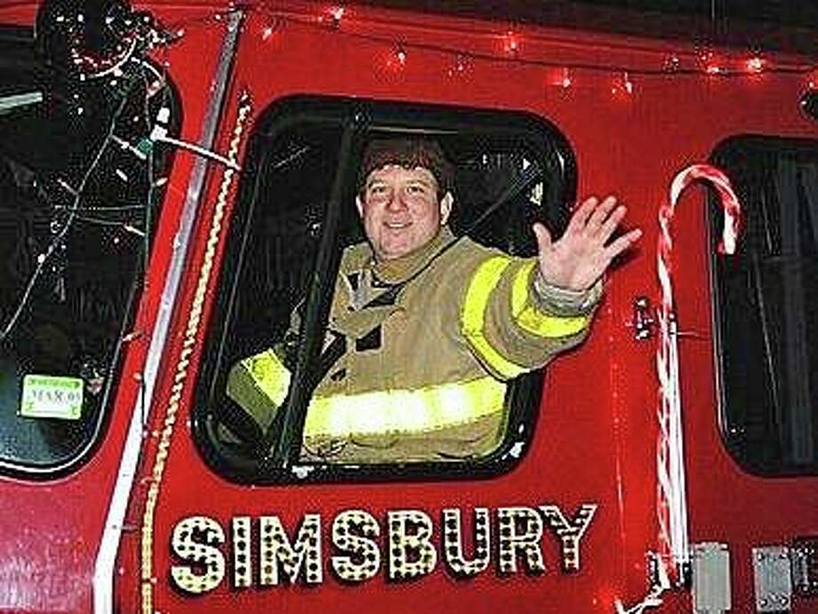 "On Oct. 2, 2019, a vintage B-17 World War II bomber crashed at Bradley International Airport in Windsor Locks. Joseph ""JT"" Huber was one of 13 people on this plane and survived this crash. JT, a volunteer firefighter from the Simsbury Fire Department has volunteered his time, for the last 15 years at the Tariffville Station. He sustained severe burns to over 40 percent of his body. Photo: Contributed Photo"