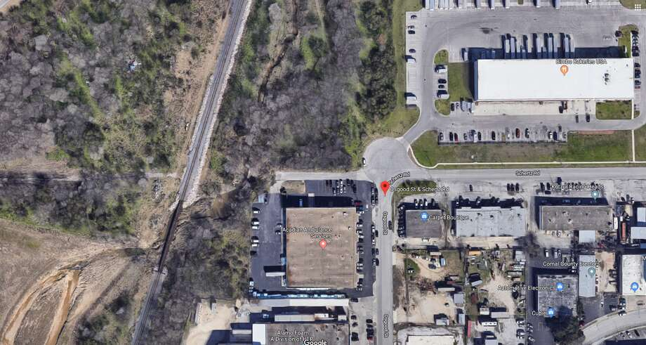 One person is hospitalized after getting hit by a train on the Northeast Side. This is the approximate area in which the accident occurred. Photo: Bing Maps