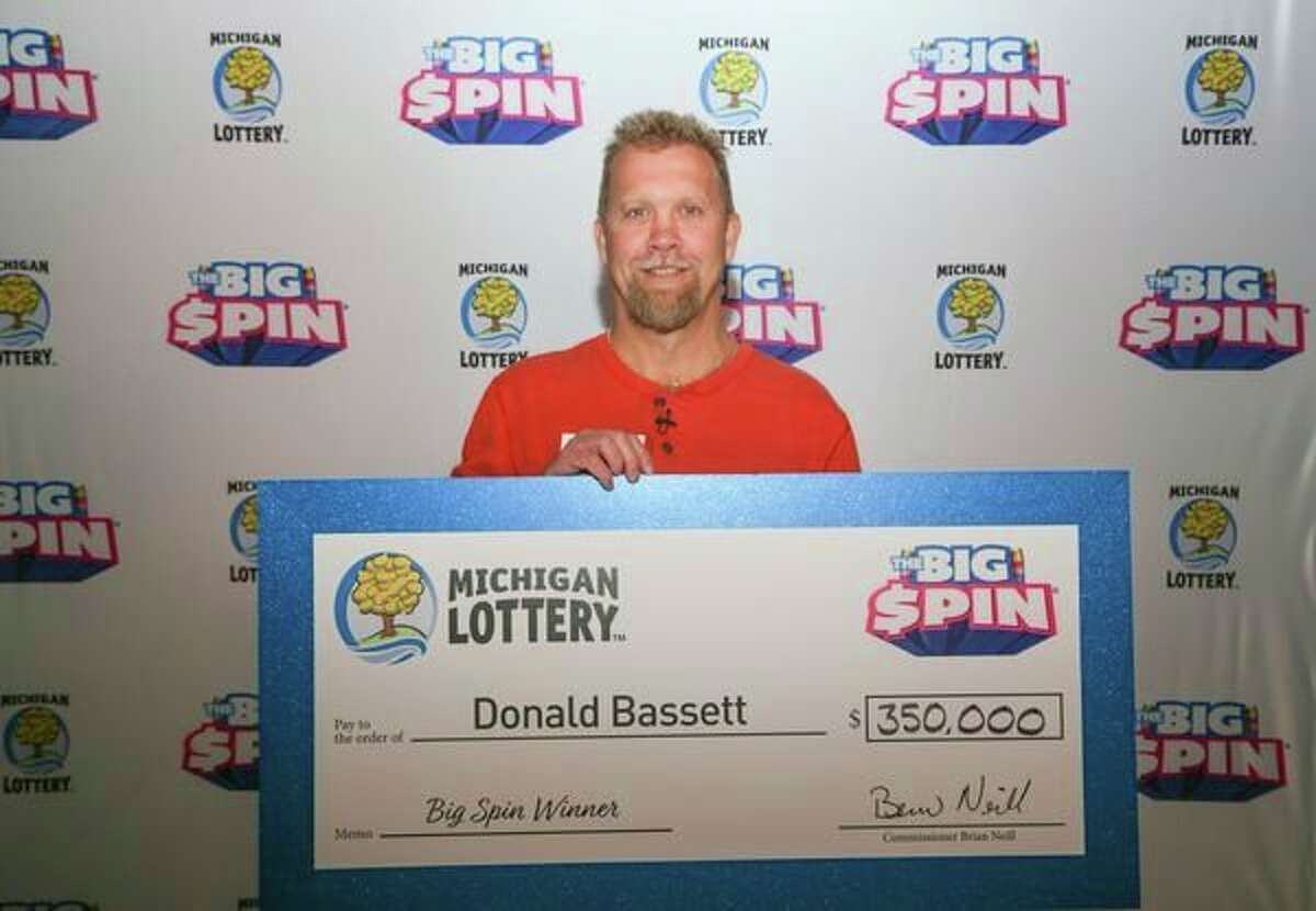 Donald Bassett, 54, of Mecosta County, recently won $350,000 on a Michigan Lottery show. (Courtesy photo)