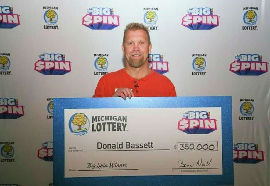 Donald Bassett, 54, of Mecosta County, recently won $350,000 on a Michigan Lottery show. (Courtesy photo)