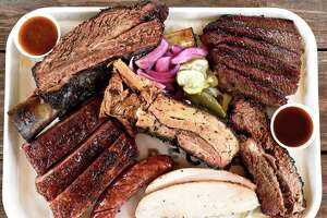 Meat platter at Killen's Barbecue in Pearland