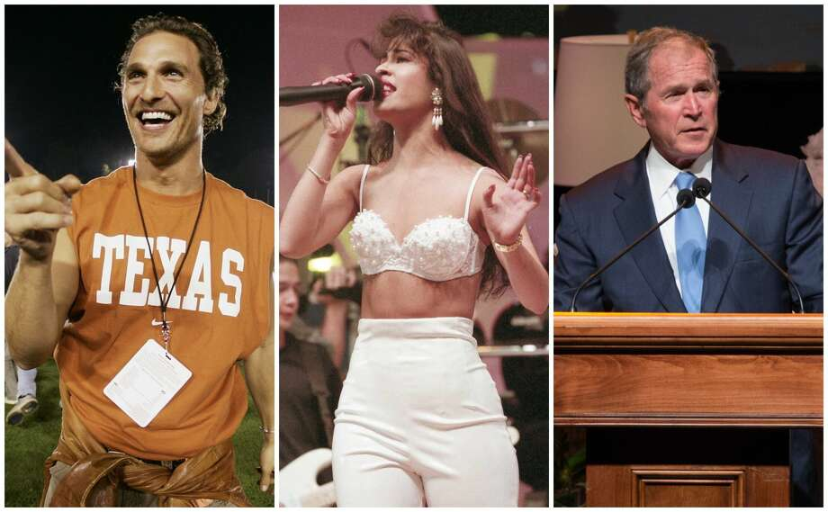 "PHOTOS: Most Wikipedia'd Texas residentsThese famous celebrities are the most searched for online in major Texas towns. They have been born in, lived in, or are connected to each city in some way. >>> Click through to see the most Wikipedia'd ""residents"" from Texas cities... Photo: Title Slide"