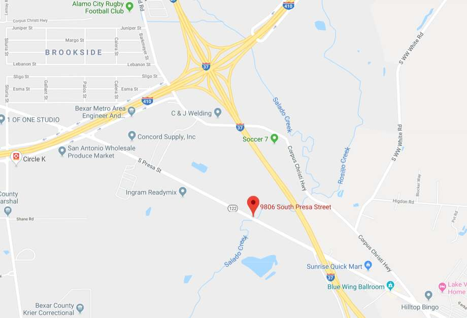 Both directions of Presa Street south of Loop 410 and west of I-37 will be closed from 8 a.m. to noon. The map shows the approximate area in which the intermittent street closures will occur. Photo: Google Maps