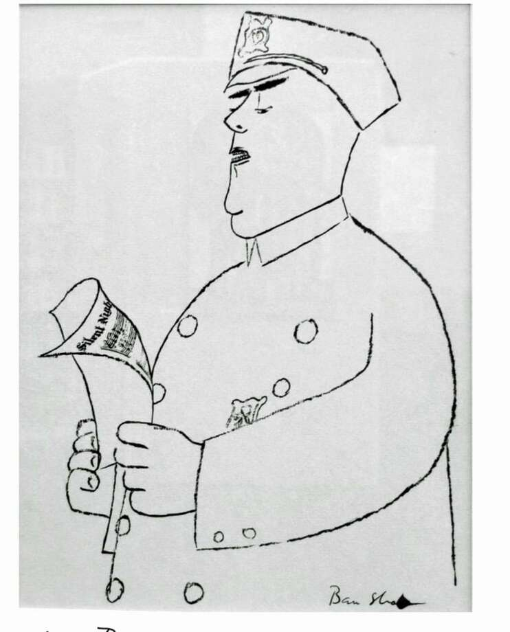 "Ben Shahn's lithograph, ""Singing Policeman"" Photo: Contributed"