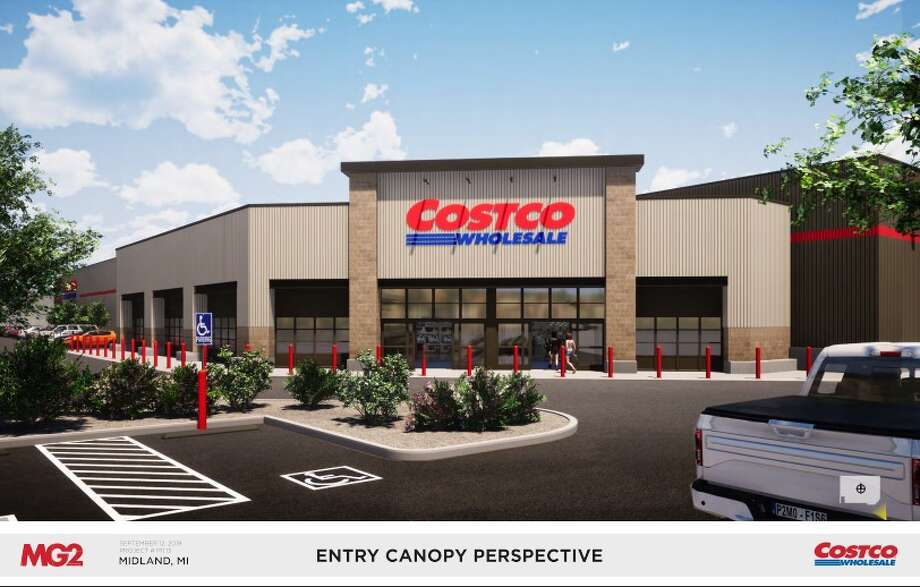 Costco submitted design renderings to the city for its proposed site in Midland, to be located at 4816 Bay City Road. (Photo provided) Photo: Photo Provided