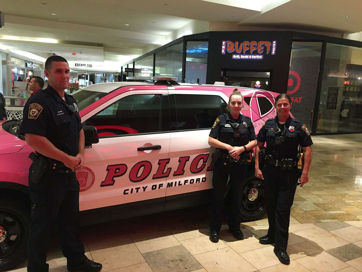 Milford police are attempting to identify the person who defaced the department's Breast Cancer Awareness Cruiser with a vulgar, anti-police message. The message -